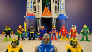 Justice League Vs. Darkseid at the Hall of Justice