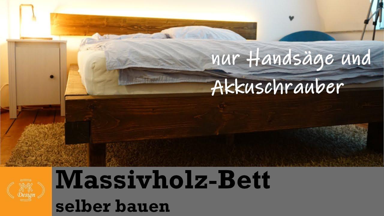 DIY Massivholzbett selber bauen // Bett bauen mit wenigen Werkzeugen