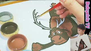 Draw Frozen Characters | SVEN Frozen Drawing | Coloring for Kids