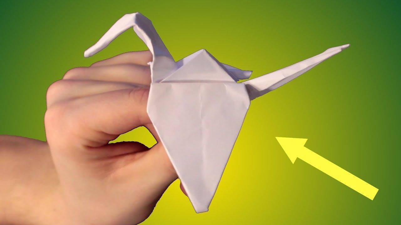 Kranich Falten Aus Papier Wunderschönen Vogel Falten Einfach