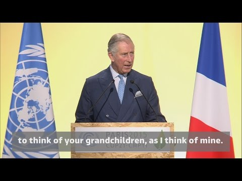 Prince Charles addresses climate crisis at COP21