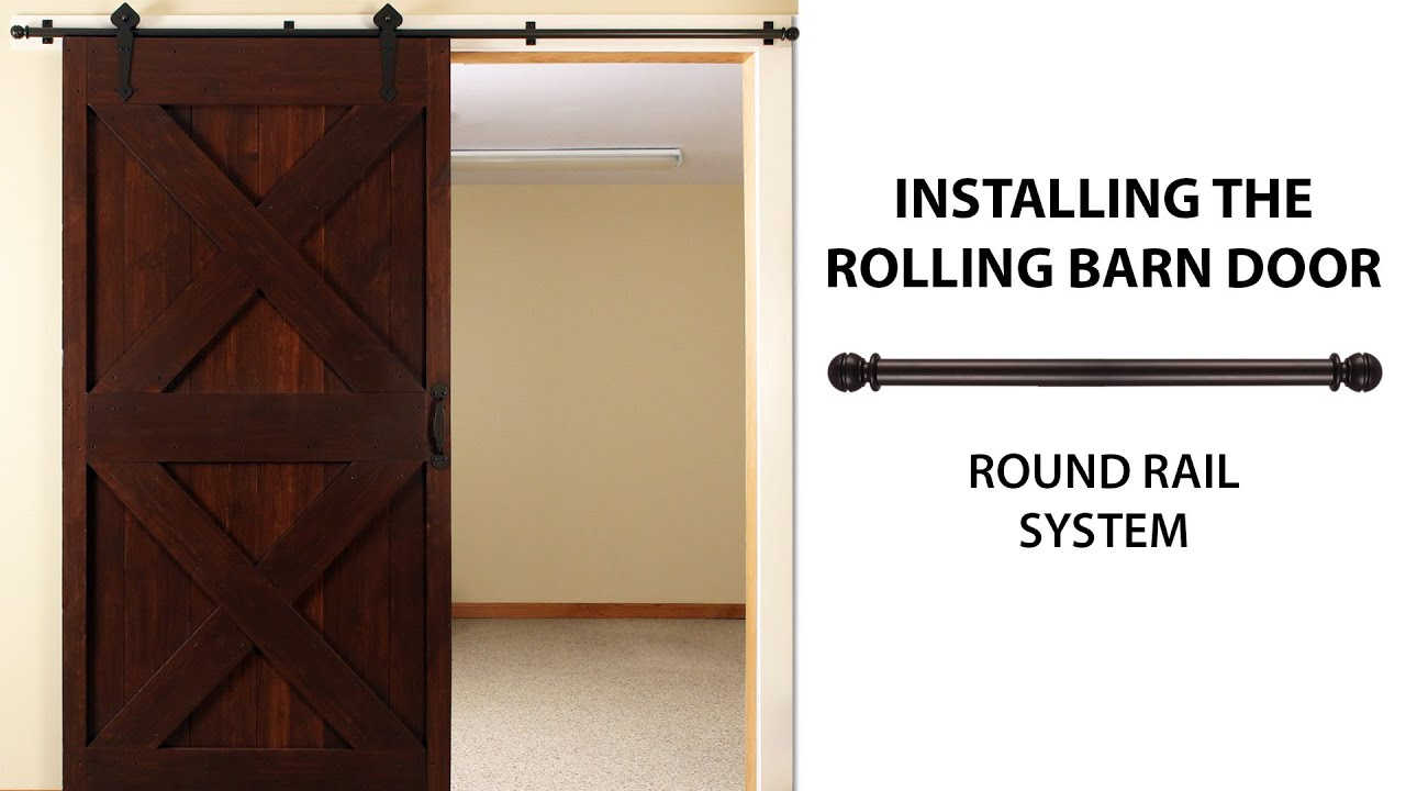 how to install the rolling barn door simple smooth oh so easy youtube. Black Bedroom Furniture Sets. Home Design Ideas