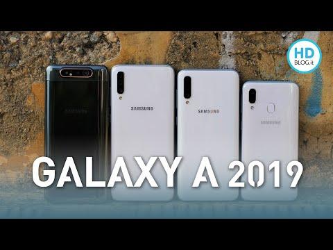 CONFRONTONE SAMSUNG GALAXY A 2019: A40 vs A50 vs A70 vs A80