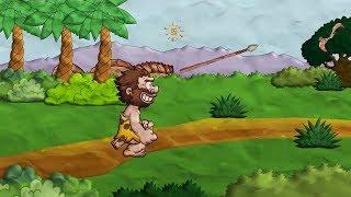 Доисторический человек, Сaveman, животные, хищники на канале как сделать мультик.  Creative Commons.