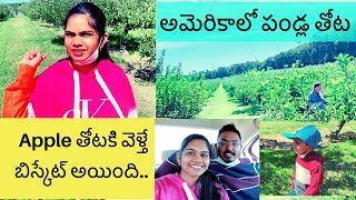 apple picking gone wrong 🍎😱😱🤩 | apple farm | farms in USA | Telugu vlogs from USA