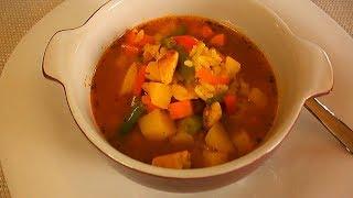 Овощной суп 🥣/ Суп овощной с курицей/Суп овощной рецепт