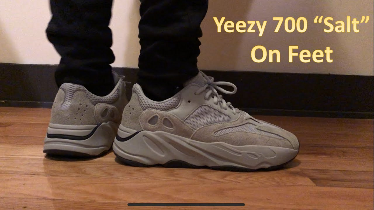 sale retailer a3baa d809d Adidas Yeezy Boost 700 Salt On Feet Review