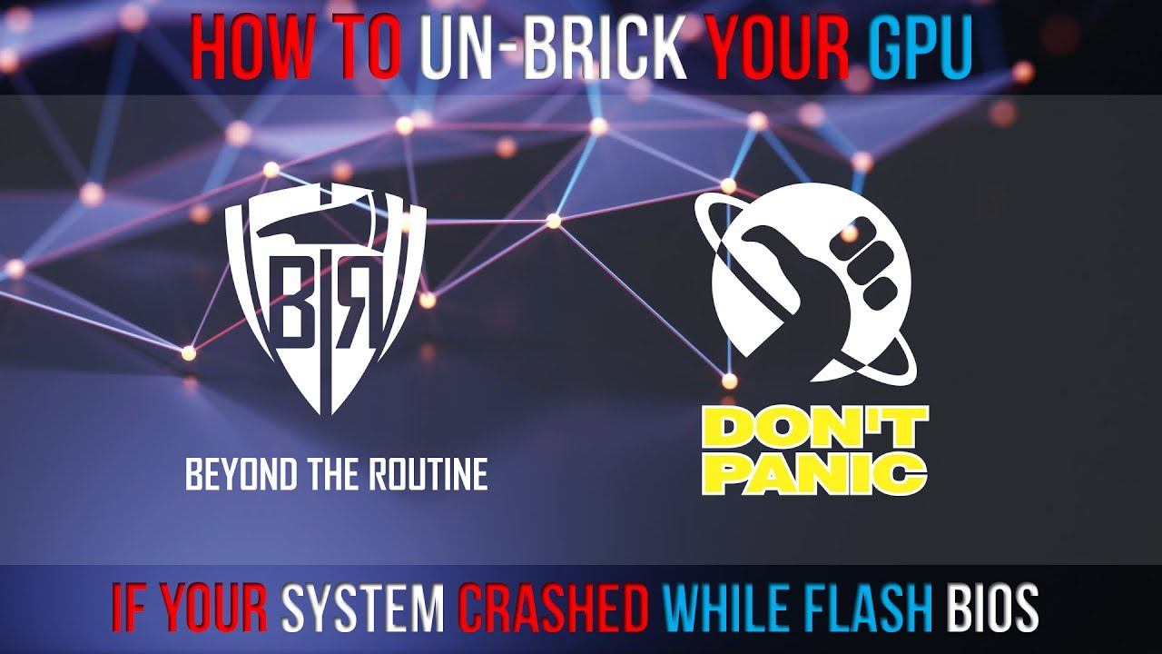 How to Un-Brick Your AMD GPU following a system crash during bios flashing