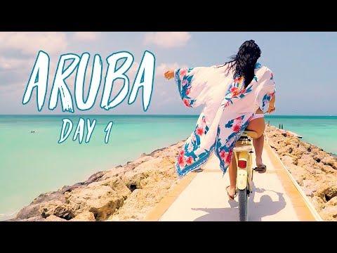 ONE HAPPY ISLAND! | ARUBA DAY 1 | Brodie & Kelsey