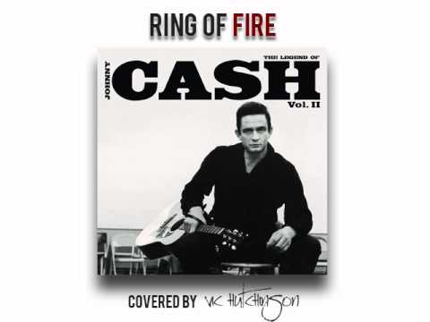 Karaoke Johnny Cash Ring of Fire covered by Vic Hutchinson