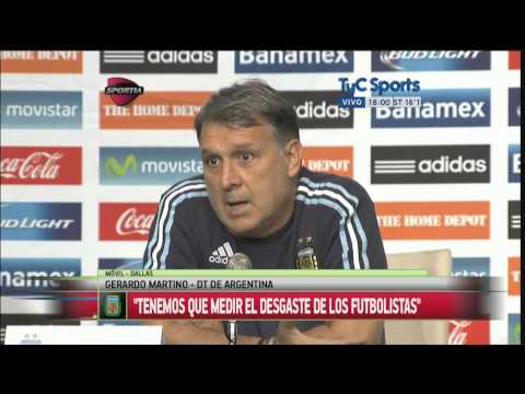 """Gerardo Martino, en la previa del amistoso ante México:  """"No desgastar innecesariamente a Messi"""""""