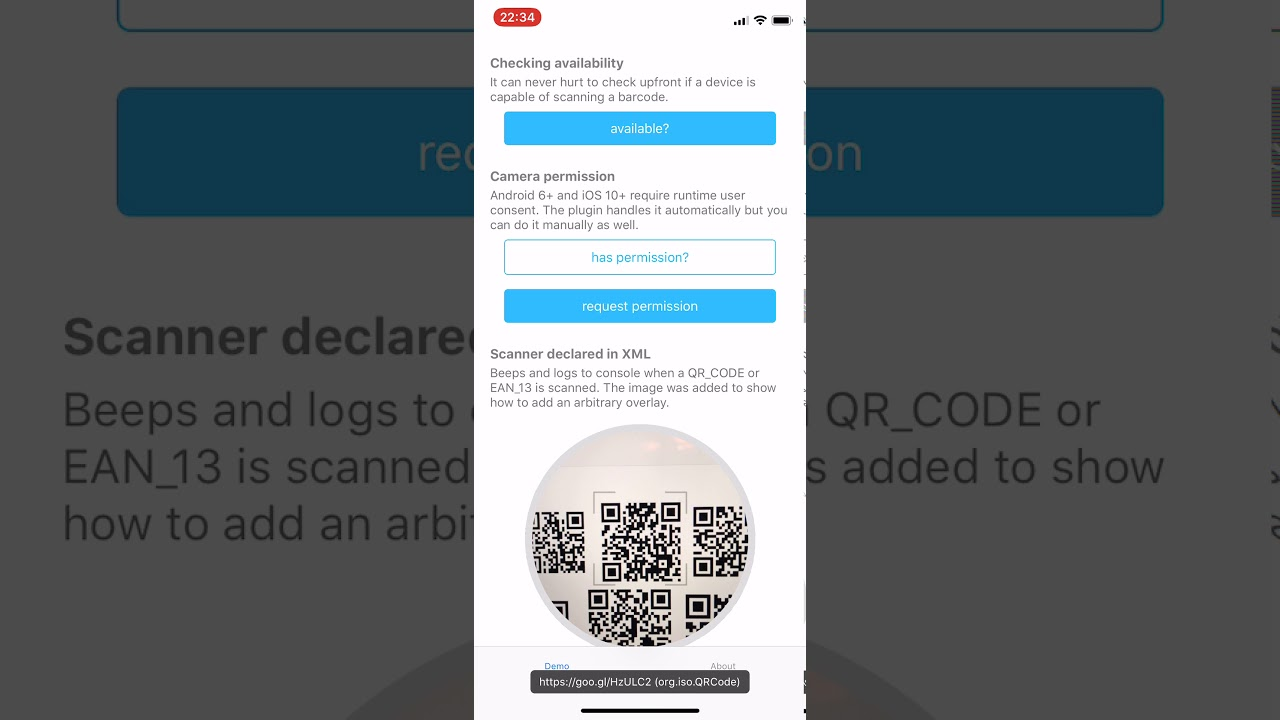 NativeScript (embedded) Barcode Scanner plugin