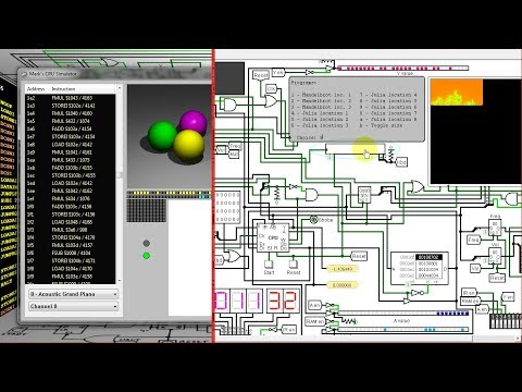 My Logisim Floating Point CPU / Computer - (FPU) (Fractals, Raytracer, Etc.)