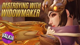 Destroying with Widowmaker Headshot Only on Custom games || Valkia