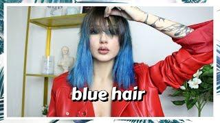 Εβαψα τα μαλλιά μου μπλε • Venetia Kamara