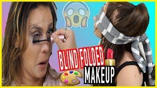 BLINDFOLDED MAKEUP CHALLENGE W/ Andrea Espada