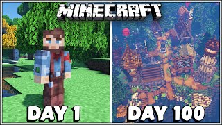 I Played 100 Days in Minecraft and Built a lot of Cool Stuff!!!