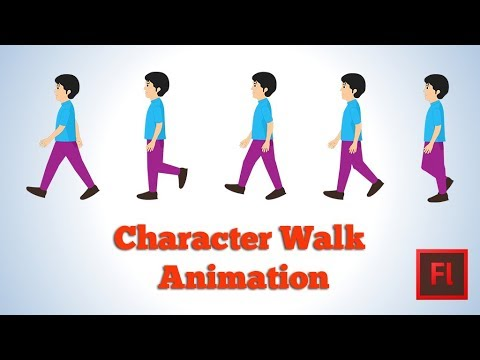 Character Walk  Animation in Flash
