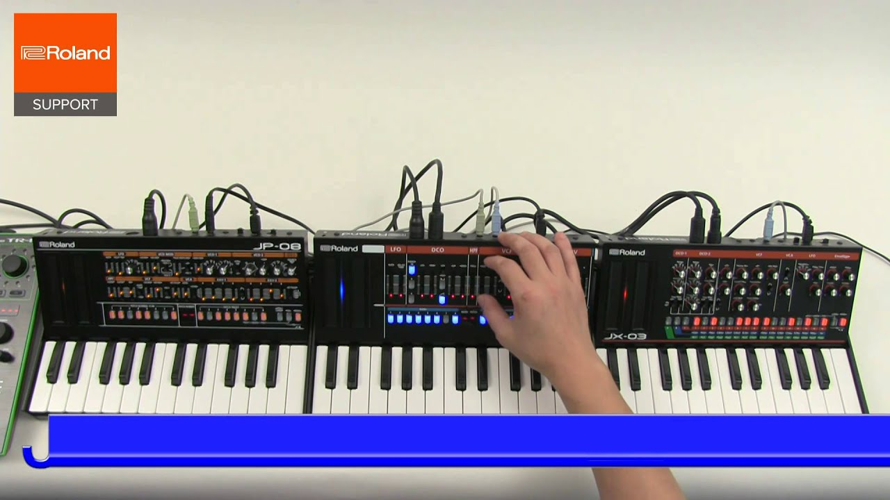 Roland Boutique JP 08 JU 06 JX 03 を Step Sequencer で同期させる