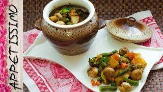 Овощное рагу в горшочке. Постные рецепты / Vegetable stew in a pot. Vegan recipes