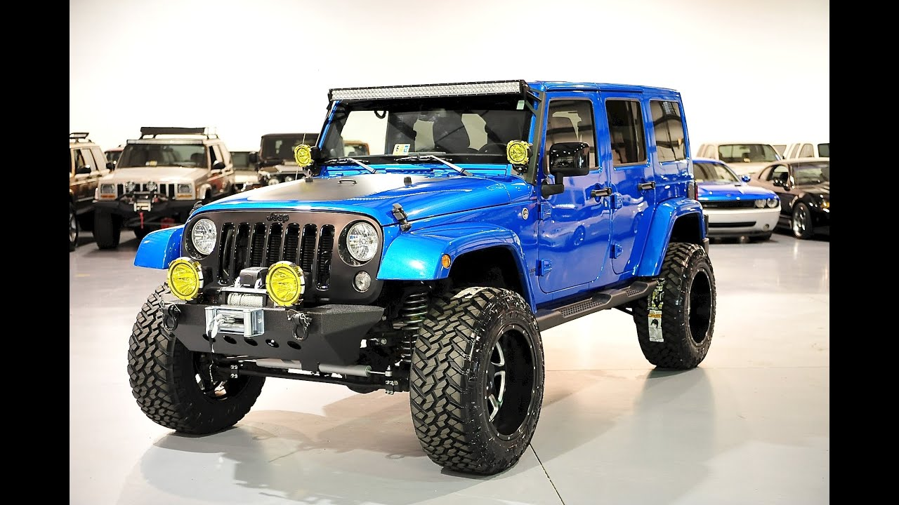 Lifted Jeeps For Sale >> Davis Autosports Hydro Blue Lifted Wrangler For Sale Youtube