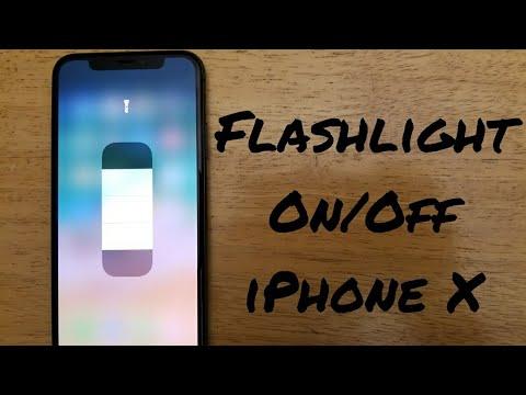 enable flashlight iphone x