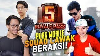 SQUAD LAWAK BAR-BAR DI SEASON 5 - PUBG MOBILE INDONESIA