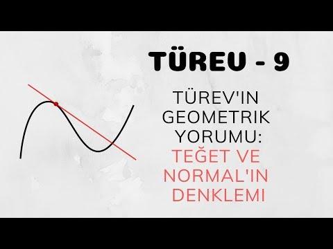 Türev - 9 (Türev'in Geometrik Yorumu - Teğet ve Normal'in Denklemi)