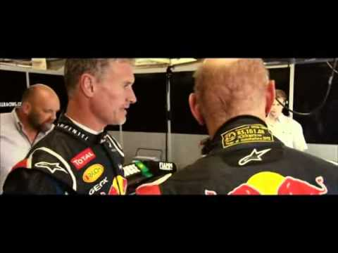 BBC F1: Adrian Newey and David Coulthard in Silverstone Circuit
