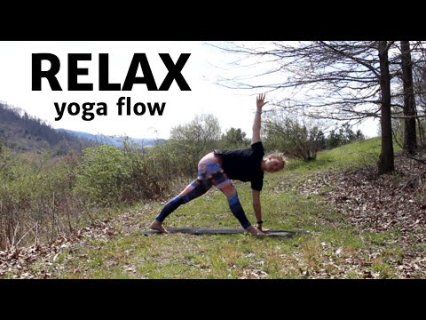 relax flow  stretch yoga  20 minutes  youtube