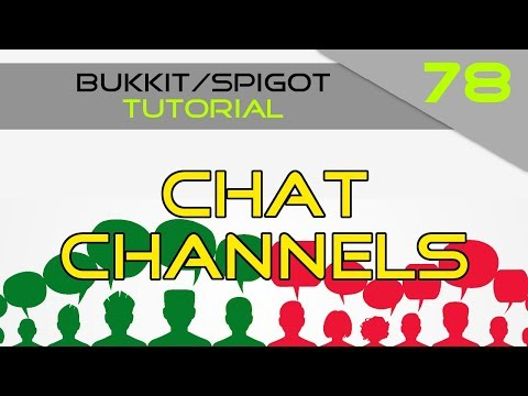 Minecraft Bukkit/Spigot Plugin Tutorial #78: Chat Channels (Easy)