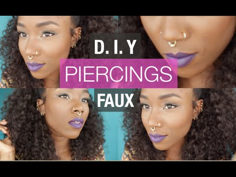 D I Y FAUX BODY PIERCINGS | FAUX SEPTUM RING