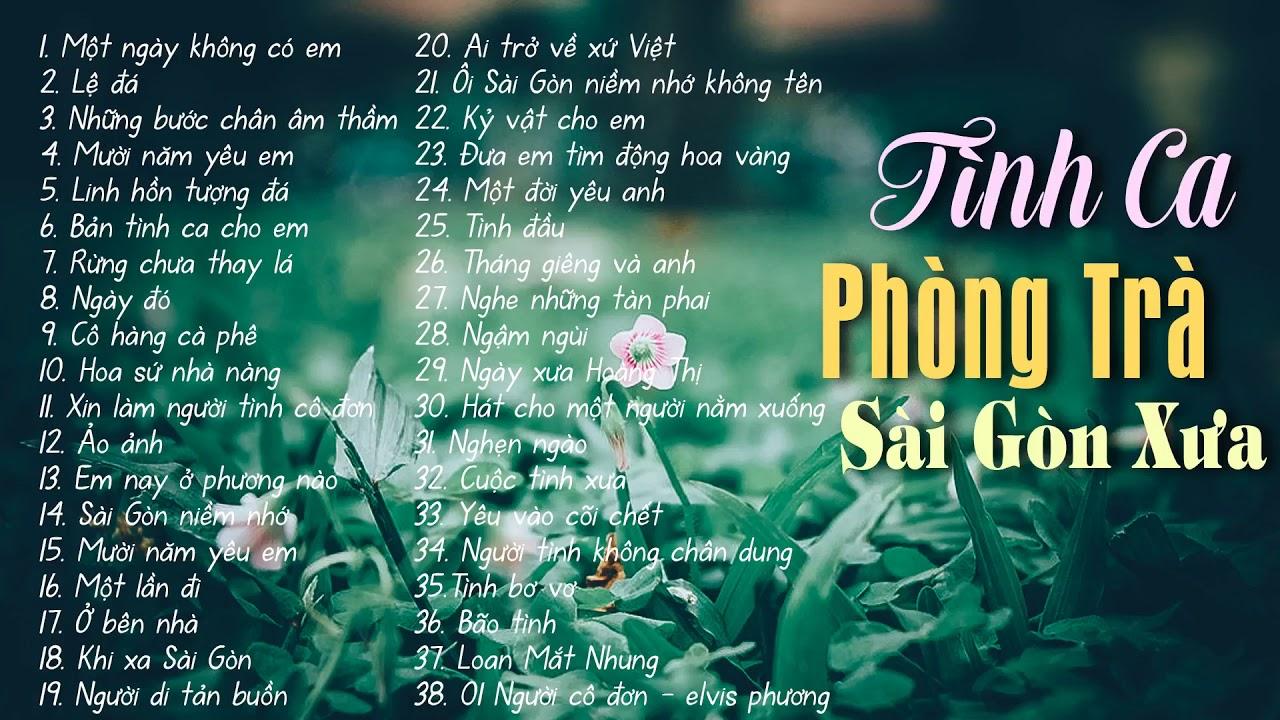 Download 38 Tình Ca Phòng Trà Sài Gòn Xưa - Một ngày không có em, Lệ đá