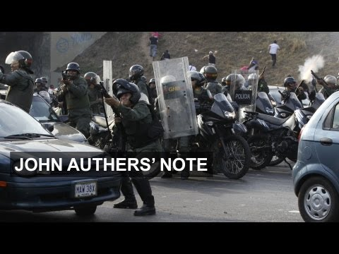 Venezuelan close call erupts into violence