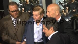 Sumner Redstone, Bruce Willis, Dwayne Johnson at G.I. Joe...