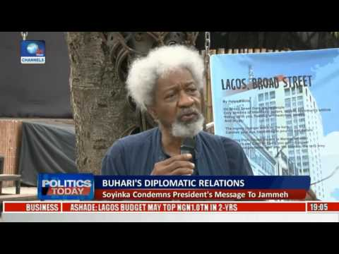 Soyinka Condemns President's Message To Gambia's Jammeh