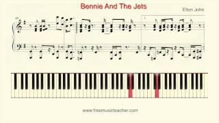 "How To Play Piano: Elton John ""Bennie And The Jets"" Piano Tutorial by Ramin Yousefi"