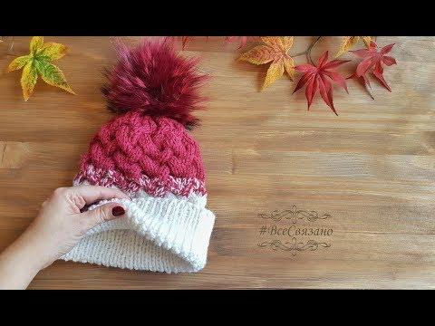 Как связать шапку зимнюю спицами