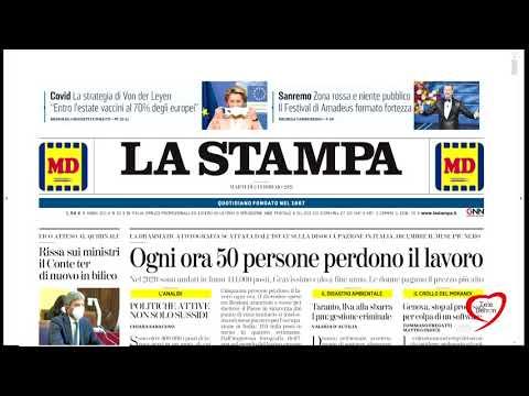 I giornali in edicola - la rassegna stampa 02/02/2021