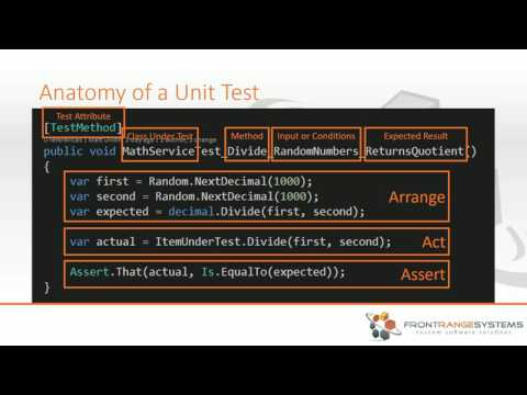 Webinar: How to Unit Test With C#