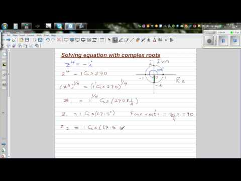 Solving z ^4 = - i and checking the answer using De Moivre's Theorem