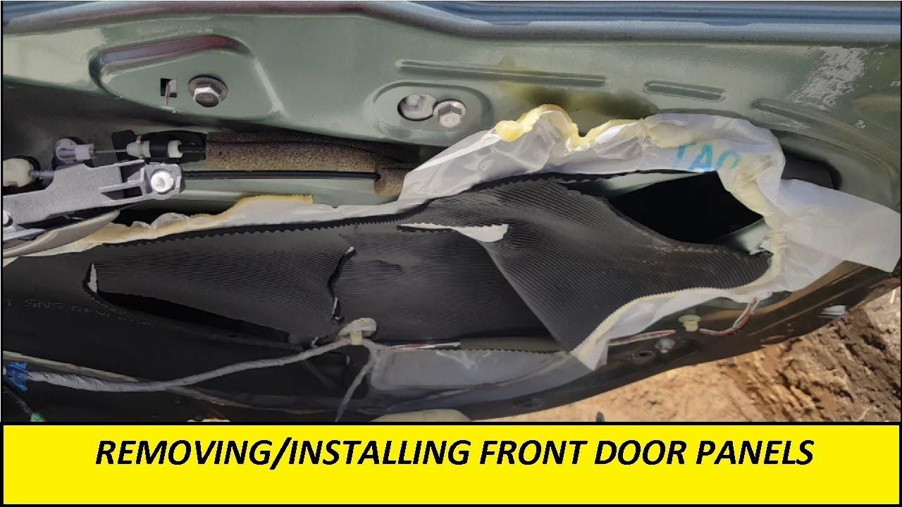 2008 8th Gen Honda Accord Front Door Panel Removal Installation Youtube