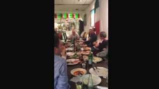 Amazing opera singer at restaurant Mamma Mia! ( o sole mio )
