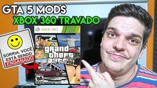 XBOX 360 TRAVADO RODANDO MODS DE CARROS BRASILEIROS NO GTA 5 ? 😨😨😨