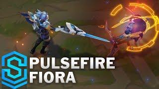 Pulsefire Fiora Skin Spotlight - Pre-Release - League of Legends