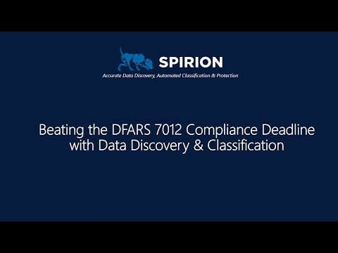 Beating DFARS 7012 with Data Discovery and Classification