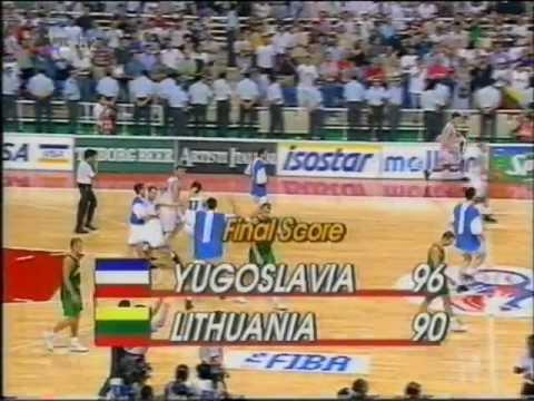 Djordjevic FINAL SHOWTIME (Eurobasket, Athens 1995) - YouTube