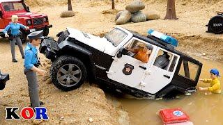 경찰차를 도와주세요 자동차 장난감 어린이들을위한