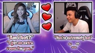 POKI ASKS MYTH IF SHE'S HOT & THEN INVITES HIM TO HER HOUSE! (Fortnite Battle Royale Highlights)