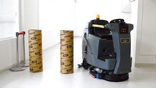 無人でスイスイ 業務用床洗浄機 ソフトバンク系が発売